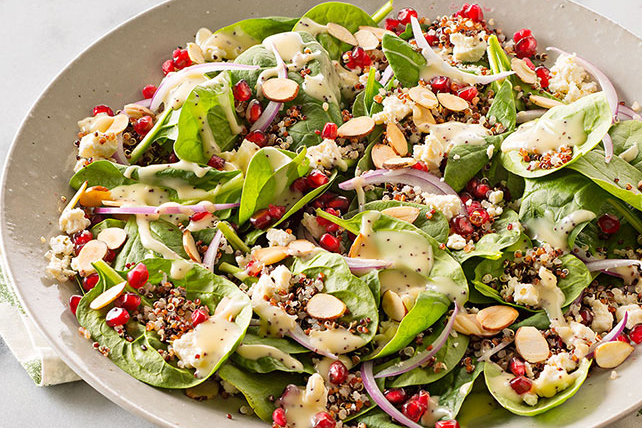 Pomegranate-Quinoa Spinach Salad