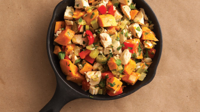 Sweet Potato and Chicken Hash