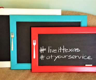 Fresh Perspectives: Repurposed Chalkboard Serving Trays